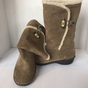 Anne Klein Sport Suede Boots Size 8